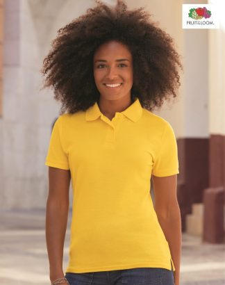 SS86 Lady Fit 65/35 Polo Shirt, Fruit of the Loom, Sunflower