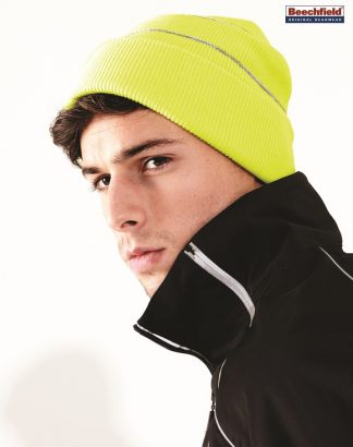 BB42 Enhanced-Viz Beanie, Beechfield, Fluorescent Yellow