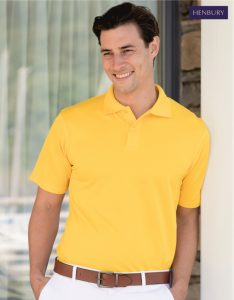 H475 Men's CoolPlus Polo Shirt, Henbury, Yellow