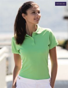 H476 Ladies CoolPlus Polo Shirt, Henbury, Kelly Green