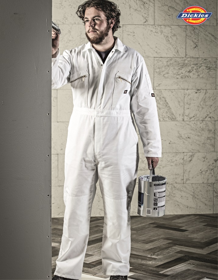 WD001 Redhawk Zip Front Coverall, Dickies, White