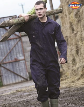 WD002 Redhawk Stud Front Coverall, Dickies, Navy