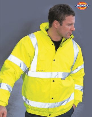 WD040 Hi-Vis Bomber Jacket, Dickies, Saturn Yellow
