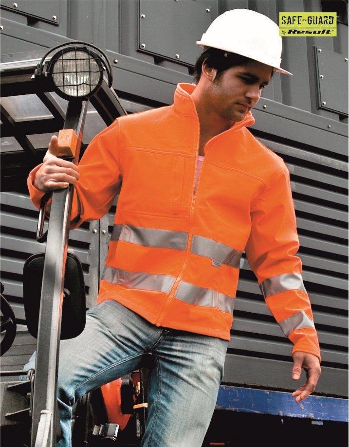 RS177 Hi Viz Softshell Jacket, Result, Fluorescent Orange
