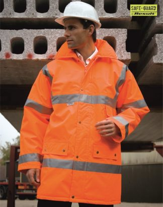 RS18 Safety Jacket, Result, Fluorescent Orange