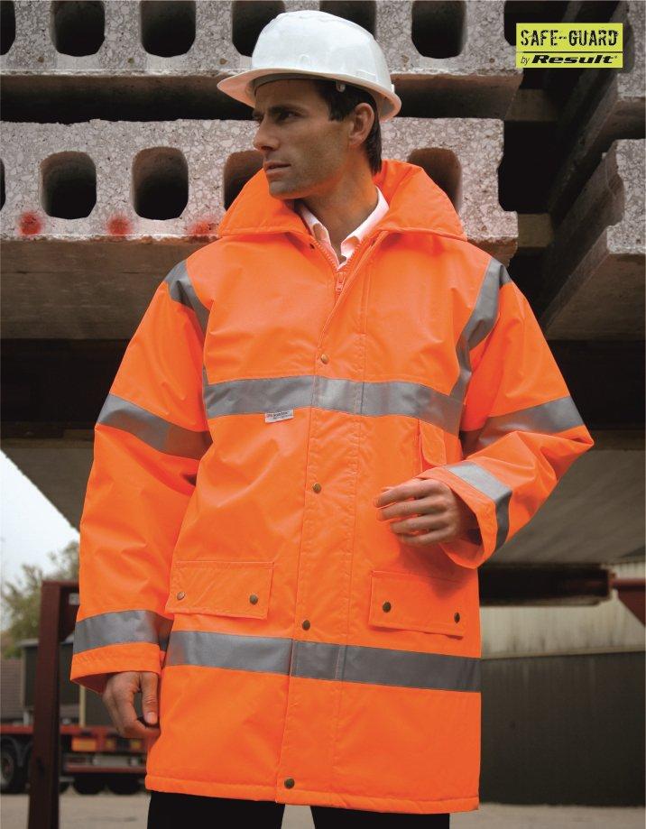 RS18 Safety Jacket, Result, Fluorescent Orange