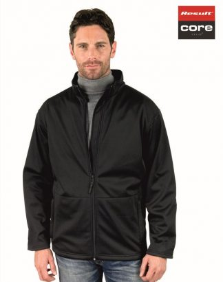 RS209M Mens Core Softshell Jacket, Result, Black