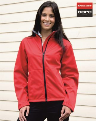 RS209F Ladies Core Softshell Jacket, Result, Red
