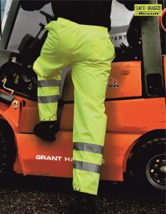 RS22 Hi-Vis Trousers, Result Safe-Guard, Fluorescent Yellow