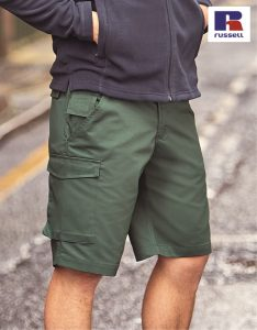 002M Workwear Work Shorts, Russell, Bottle Green