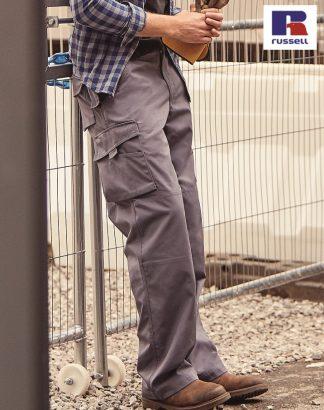 015M Heavy Duty Trouser, Russell, Convoy Grey