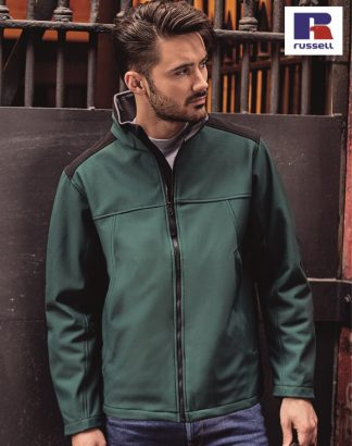 018M Workwear Softshell, Russell, Bottle Green