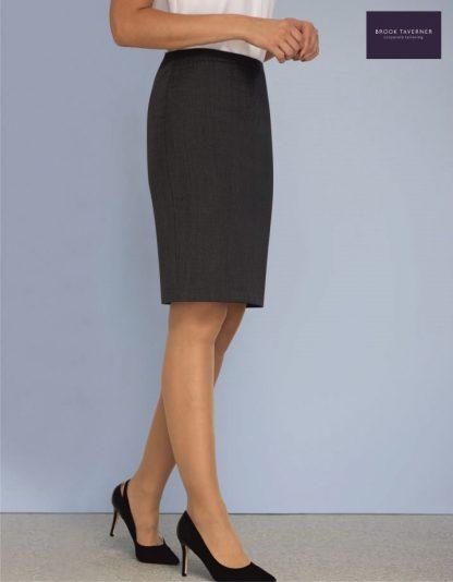 2229 Wyndham Skirt, Mid Grey