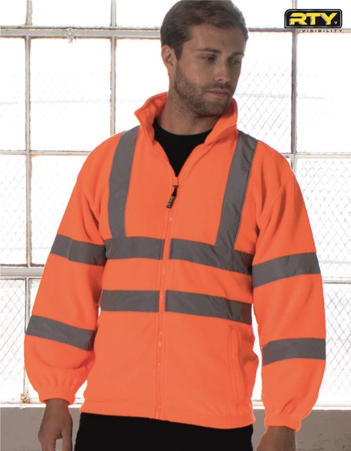HV72 High Visibility Full Zip Fleece, RTY